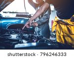technician working on checking... | Shutterstock . vector #796246333