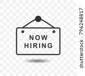 hanging sign board  now hiring...   Shutterstock .eps vector #796248817