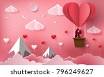 cute couples in love hugging ... | Shutterstock .eps vector #796249627