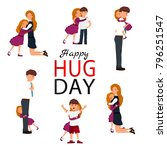 happy hug day background with... | Shutterstock .eps vector #796251547
