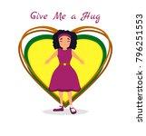 national hug day background...   Shutterstock .eps vector #796251553