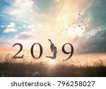 happy new year concept  alone... | Shutterstock . vector #796258027