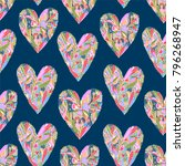 romantic seamless pattern with... | Shutterstock .eps vector #796268947