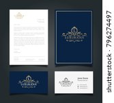 luxurious logo cover letter and ... | Shutterstock .eps vector #796274497
