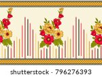 seamless indian textile floral... | Shutterstock . vector #796276393