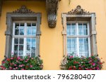 old window with flowers | Shutterstock . vector #796280407