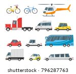 vector  cartoon style set of... | Shutterstock .eps vector #796287763