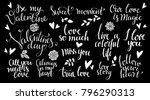 love  valentines day chalk... | Shutterstock .eps vector #796290313