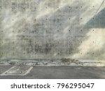 the building's walls were... | Shutterstock . vector #796295047