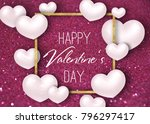 happy valentine's day festive... | Shutterstock . vector #796297417
