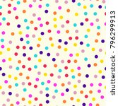 memphis style polka dots... | Shutterstock .eps vector #796299913