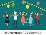 vector illustration of kids... | Shutterstock .eps vector #796304437