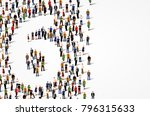 large group of people in number ... | Shutterstock .eps vector #796315633