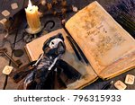 old book with black magic... | Shutterstock . vector #796315933