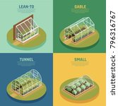 greenhouses conservatory... | Shutterstock .eps vector #796316767