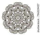 mandala. ethnic decorative... | Shutterstock .eps vector #796329457
