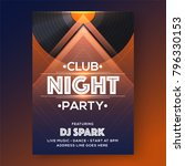 party vector poster template... | Shutterstock .eps vector #796330153
