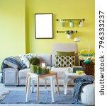 decorative room concept sofa... | Shutterstock . vector #796333237