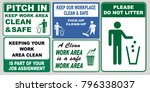 set of clean sticker sign for... | Shutterstock .eps vector #796338037