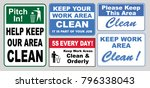 set of clean sticker sign for... | Shutterstock .eps vector #796338043