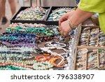woman with luxury gemstone... | Shutterstock . vector #796338907