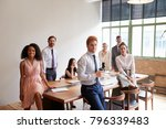 young professionals in a... | Shutterstock . vector #796339483