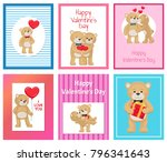 i love you and me teddy bears... | Shutterstock .eps vector #796341643