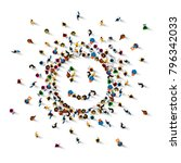 many people sign emoji on the... | Shutterstock .eps vector #796342033