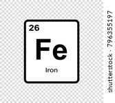 iron chemical element. sign... | Shutterstock .eps vector #796355197