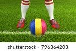3d illustration. man and soccer ... | Shutterstock . vector #796364203