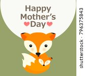 happy mother's day greeting... | Shutterstock .eps vector #796375843