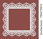 laser cut paper lace frame ... | Shutterstock .eps vector #796375873