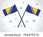 bosnia emblem winter snow | Shutterstock .eps vector #796379173