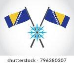 bosnia emblem cold winter | Shutterstock .eps vector #796380307