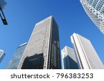 blue sky and building in tokyo...   Shutterstock . vector #796383253