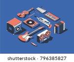 vector illustration  isometric... | Shutterstock .eps vector #796385827