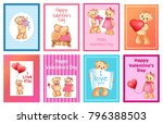 i love you and me teddy bears... | Shutterstock .eps vector #796388503