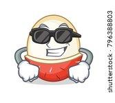 super cool rambutan character... | Shutterstock .eps vector #796388803