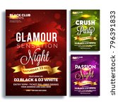 party banner or poster template ... | Shutterstock .eps vector #796391833