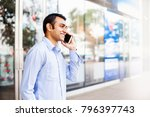 young indian office worker...   Shutterstock . vector #796397743