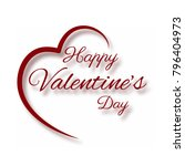 happy valentine day half heart... | Shutterstock .eps vector #796404973