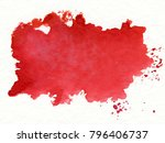 red watercolor on white... | Shutterstock . vector #796406737