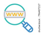 www search browser  | Shutterstock .eps vector #796407217