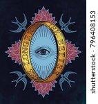 ornate mystic eye inside the... | Shutterstock .eps vector #796408153