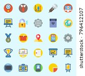 icons set about digital... | Shutterstock .eps vector #796412107