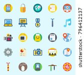 icons set about digital... | Shutterstock .eps vector #796412137