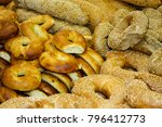 closeup of breads and sweet...   Shutterstock . vector #796412773