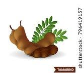 tamarind vector illustration   Shutterstock .eps vector #796419157