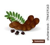 tamarind vector illustration   Shutterstock .eps vector #796419163