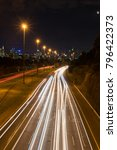 traffic on the eastern freeway... | Shutterstock . vector #796422373